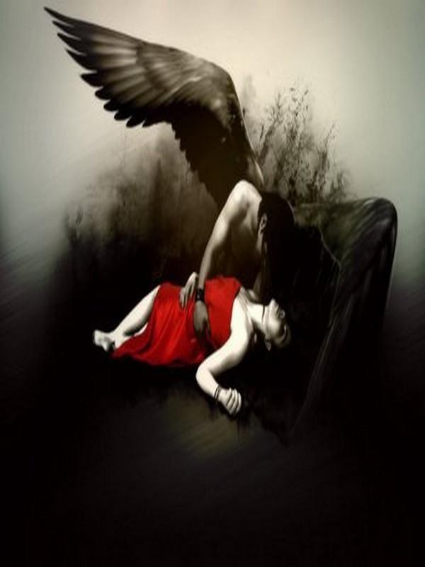 L'ange noir et la dame en rouge
