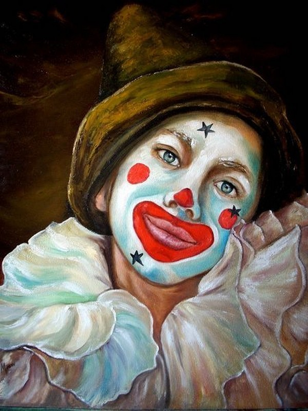 Le clown triste for Peinture qui masque les imperfections