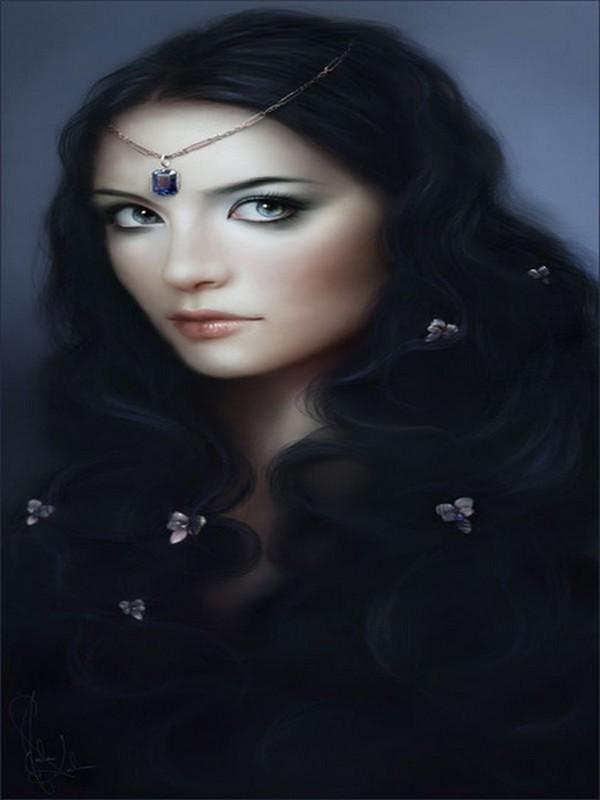 Belle brune aux yeux bleus - Brune yeux bleus ...