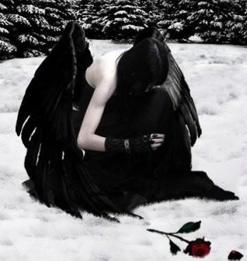 Image ange noir - Image triste noir et blanc ...